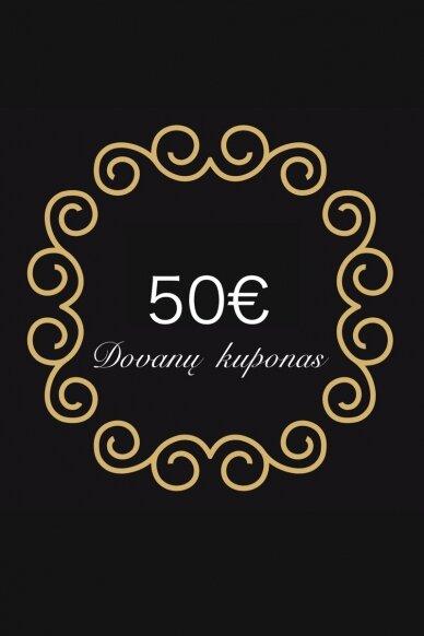 50 eurų dovanų kuponas